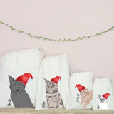 Illustrated Cat Christmas  Bags