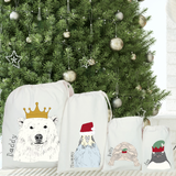 Personalised Cotton Christmas Party Bags
