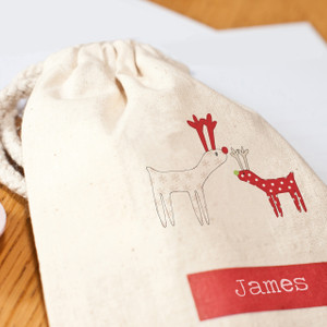 Reindeer Party Favour Bag