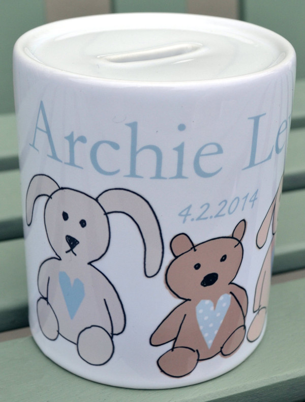 Personalised New Baby Money Box