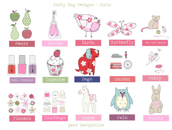 Girl's Personalised Party Bags