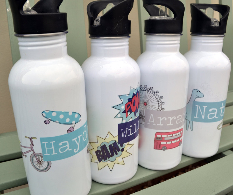 Boy's Personalised Water Bottle