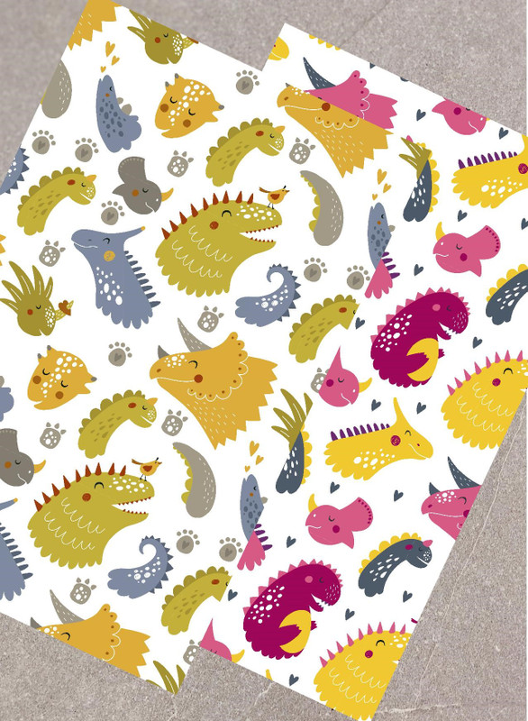 Personalised Dinosaur Placemat and Coaster