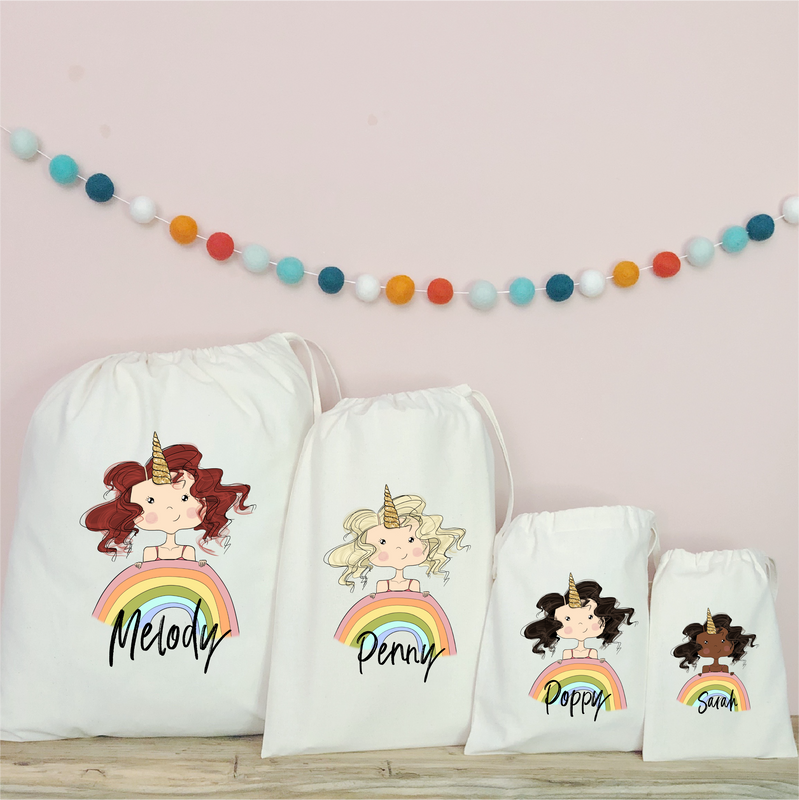Personalised Unicorn Party Bags