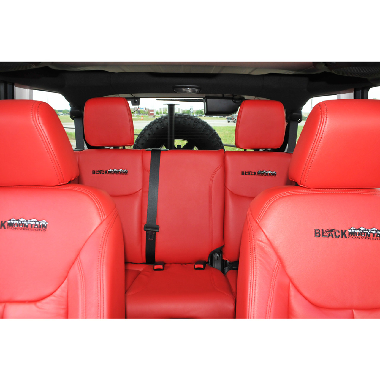 Jeep Wrangler Leather Seat Covers Red Blkmtn