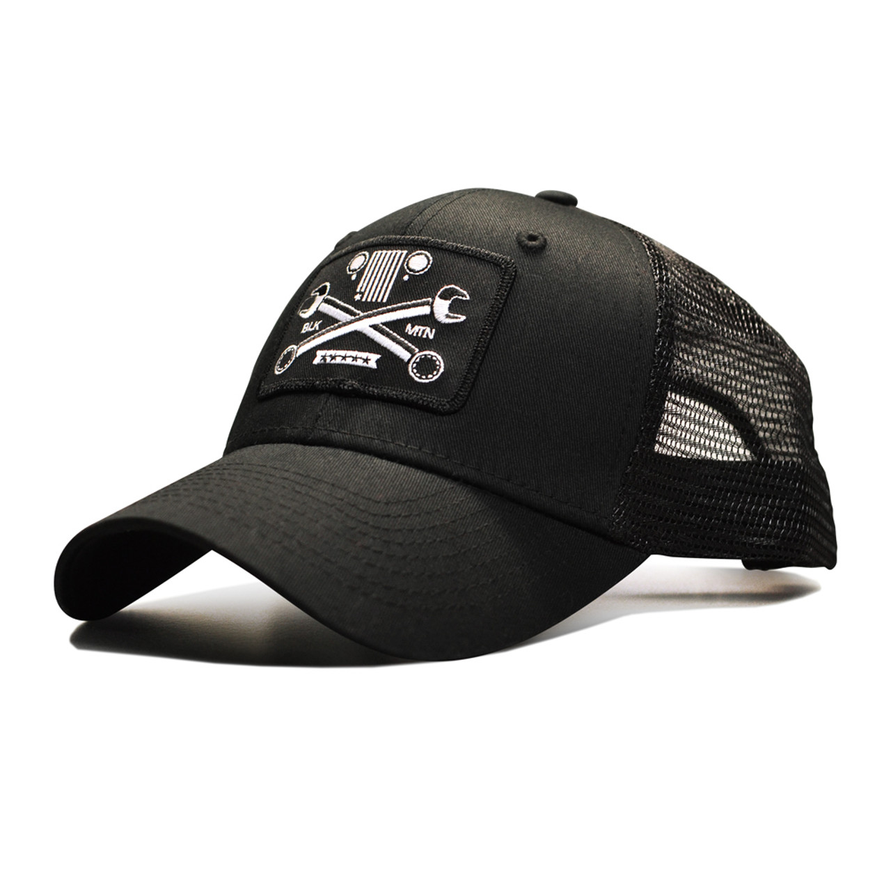 Crossed Wrench Snapback Cap - Black Mountain Jeep d32d090583f