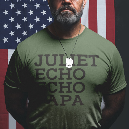 423f021269a Jeep Phonetic T-Shirt (Army Green)