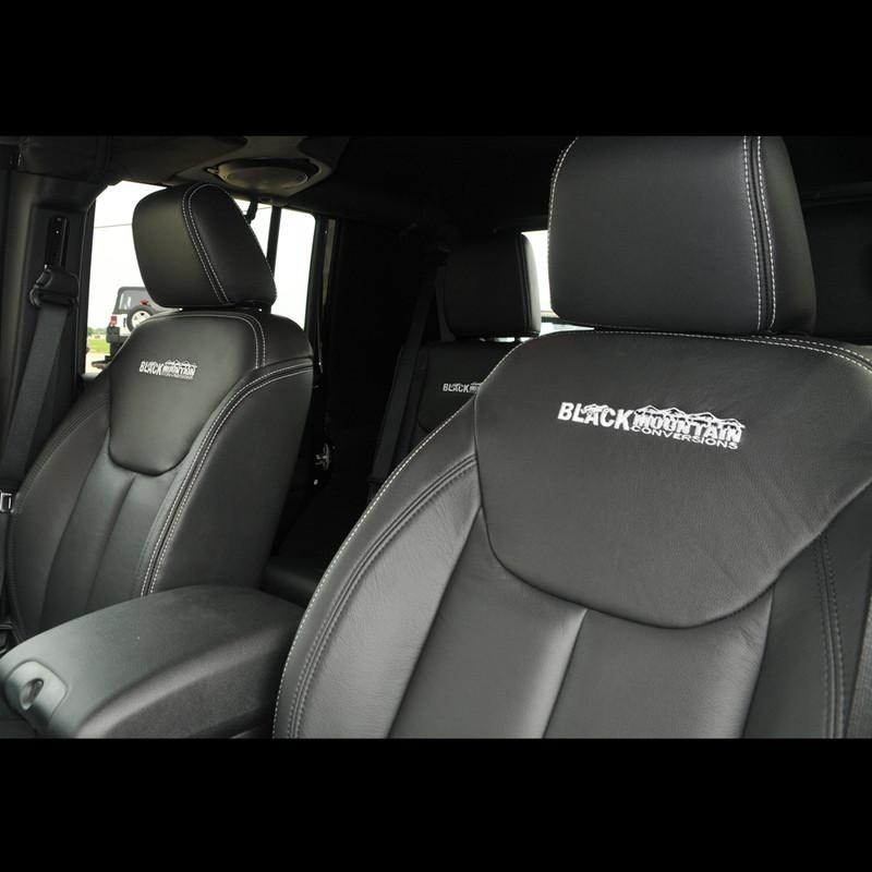 Jeep Wrangler Leather Seat Covers Black Blkmtn