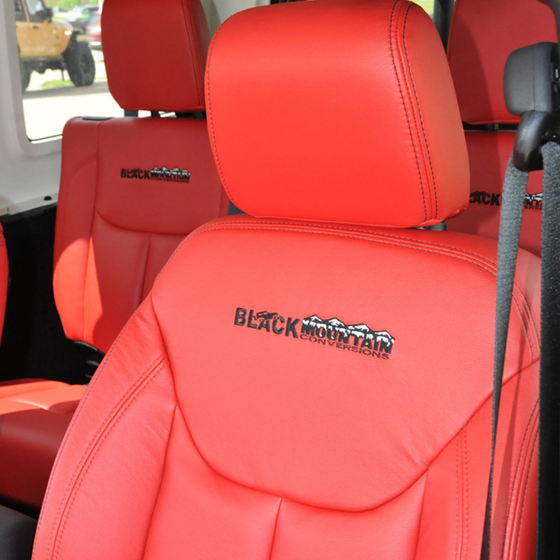Jeep Wrangler Seat Covers >> Jeep Wrangler Leather Seat Covers Red