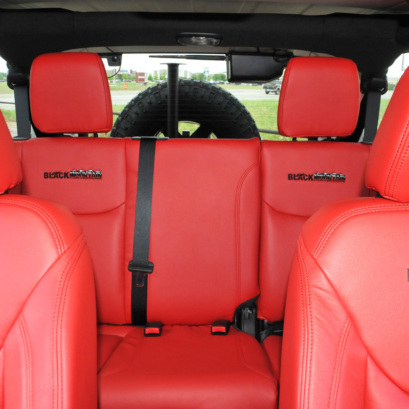 Jeep Wrangler Seats >> Jeep Wrangler Leather Seat Covers Red