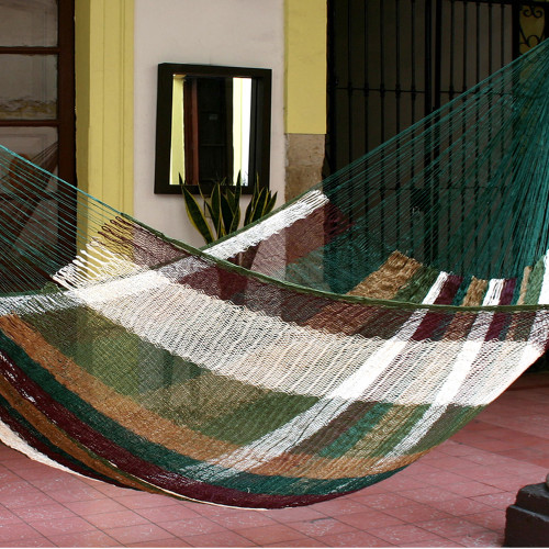 Striped Rope Hammock Double 'Mother Earth'
