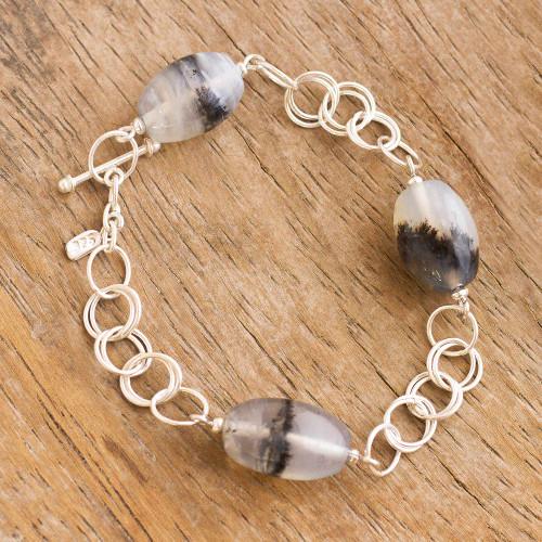 Opal link bracelet 'Secrets'