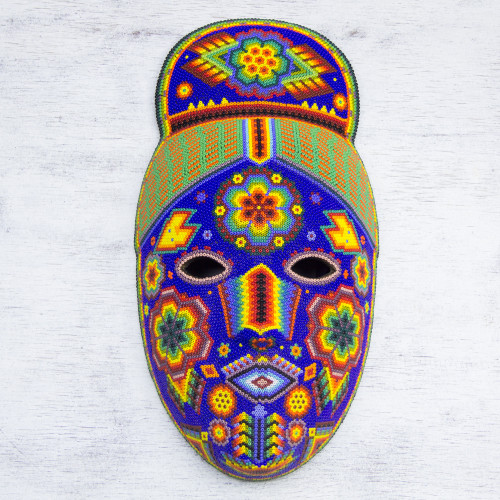 Beadwork mask 'Life Fortune and Success'