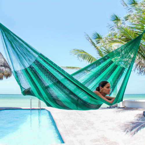 Handcrafted Rope Hammock Single 'Caribbean Dream'