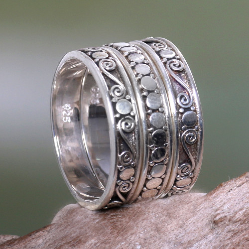 Handmade Sterling Silver Stacking Rings Set of 3 'Together'