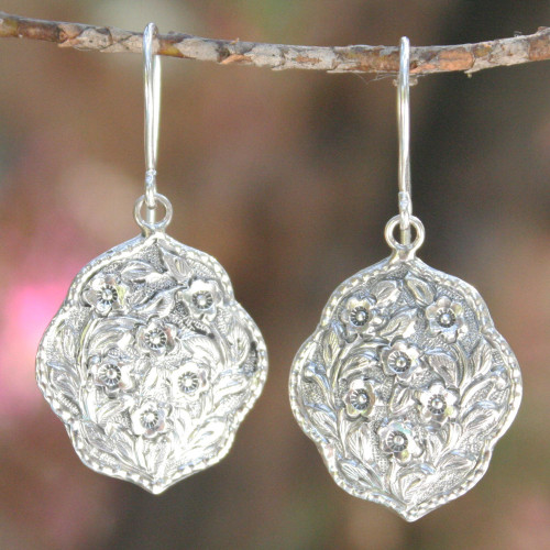 Sterling Silver Flower Earrings 'Spring Bouquet'