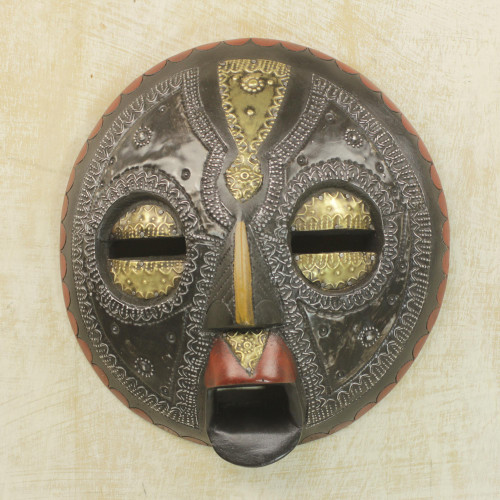 African Wood Mask 'Sign of Protection'
