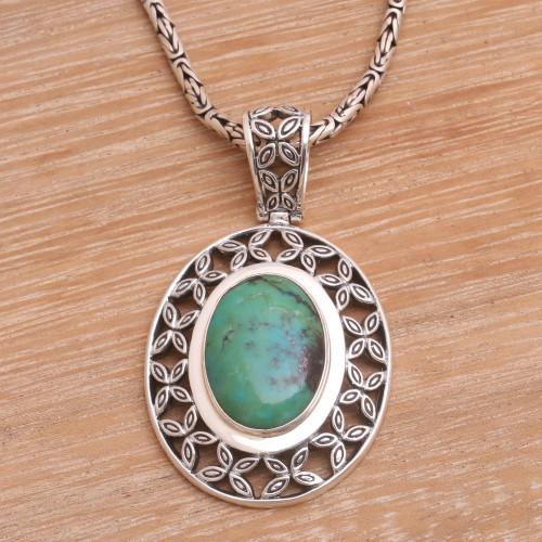Sterling silver pendant necklace 'Bali Butterflies'
