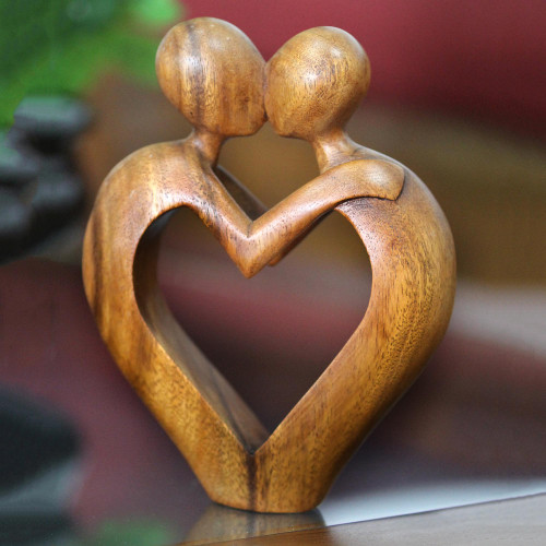 Romantic Heart Sculpture 'Sweet Love'