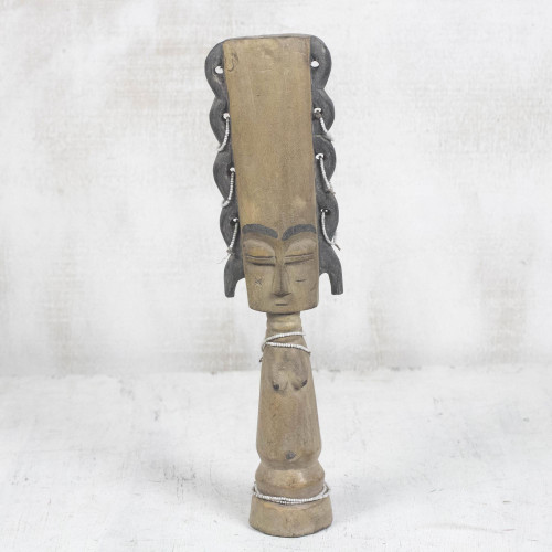 Wood Fertility Doll Sculpture 'Fante Fertility Doll I'
