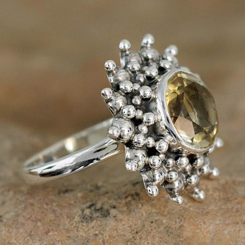 Citrine Jewelry Artisan Crafted Sterling Silver Jewelry 'Star'