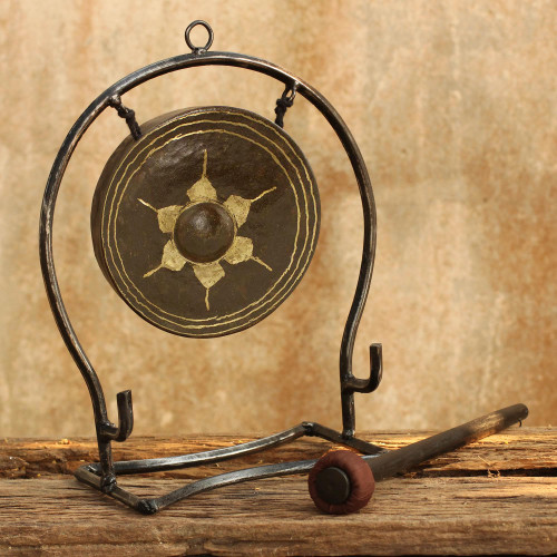 Iron and brass gong Large 'Thai Harmony'