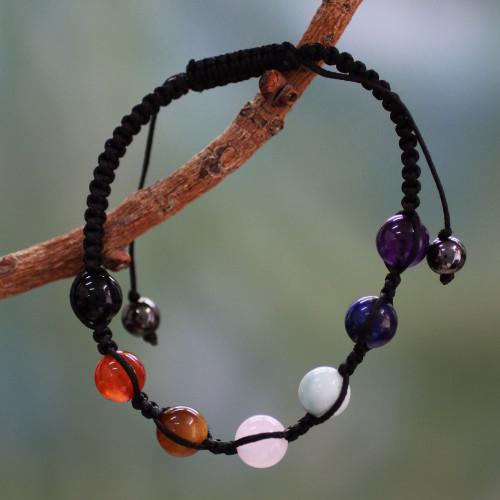 Multi-gemstone chakra bracelet 'Well-Being'