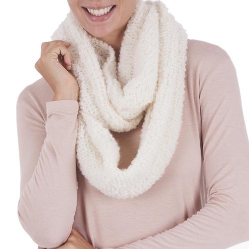 Alpaca blend infinity scarf 'Natural Infinity'