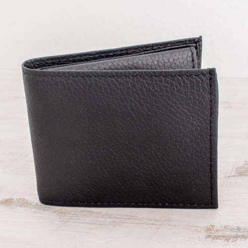 Men's Leather Wallet with Coin Pocket 'Black Knight'