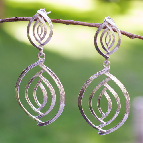Taxco Silver Jewelry Handcrafted Earrings 'Ancient Eyes'