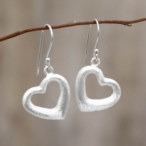 Fair Trade Jewelry Sterling Silver Earrings 'Love's Anchor'