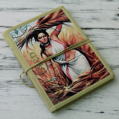 48-page Handmade Paper Handcrafted Journal 'At the Fields'