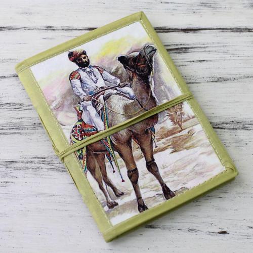 48-page Handmade Paper Handcrafted Journal 'Rajasthani Gentleman'