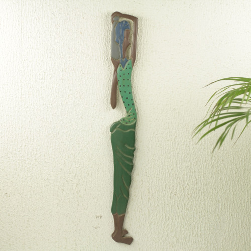 Hand Carved and Painted African Wood Wall Panel 'Konsuo'