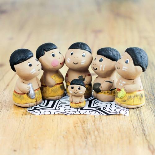 Christmas Amazonian Nativity Scene Figurines Set of 6 'In the Amazon'