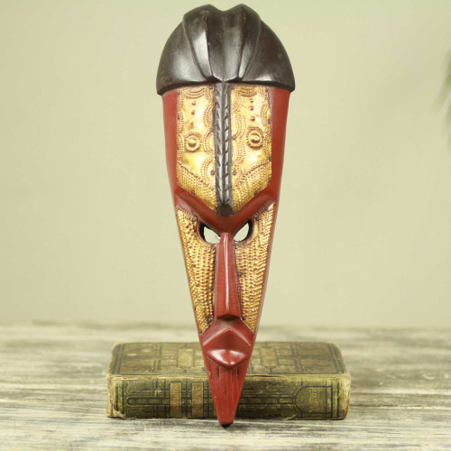 Hand Carved Original African Mask from Ghana 'Brightness'