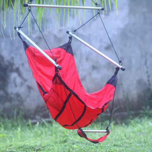 Red Parachute Hammock Swing Portable Hanging Chair 'Nusa Dua Red'