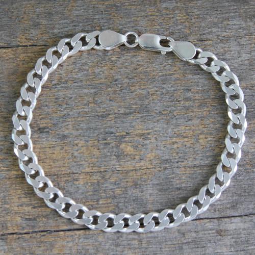 Indian Handcrafted Sterling Silver Men's Bracelet 'Hip Hop Connection'