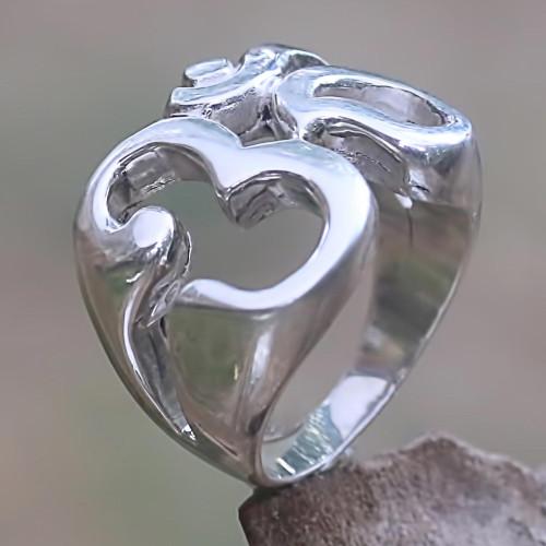 Om Hindu Meditation Signet Ring Artisan Crafted Jewelry 'Omkara'