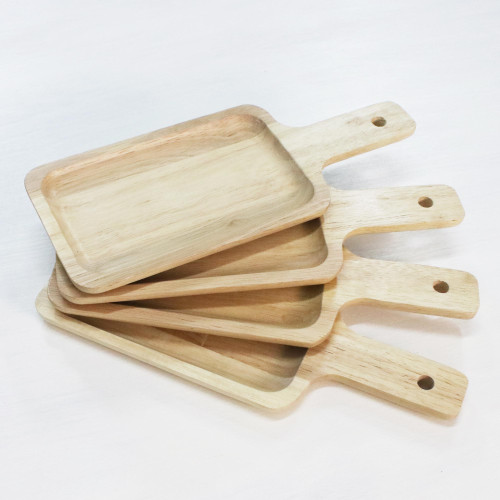 4 Artisan Crafted Wood Serving Boards Handcarved in Thailand 'Nature's Treats'