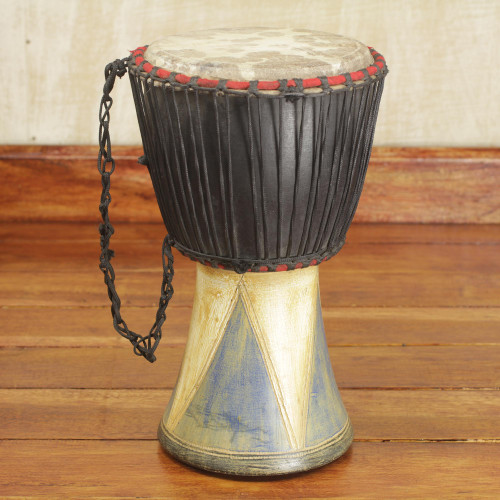 Authentic Traditional Djembe Drum Hand Crafted in Ghana 'Come Together in Peace'