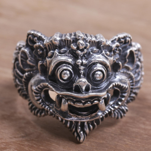 925 Sterling Silver Barong Ring from Indonesia 'Barong Parade'