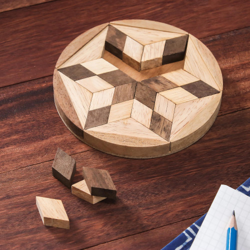 Star Shaped Wood Puzzle Game from Thailand 'Star of David'