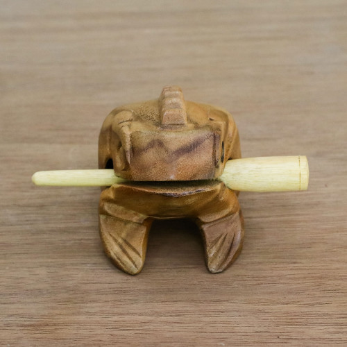 Brown Thai Frog Wood Percussion Instrument 5.5 Inch 'Tenasserim Melody'