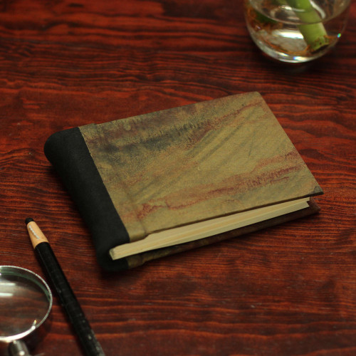 Recycled Paper Journal with Autumn Colors from Mexico 'Autumn Delicacy'