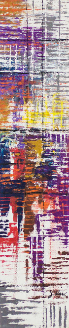 Signed Abstract Painting by a Ghanaian Artist 'Force of Destiny'