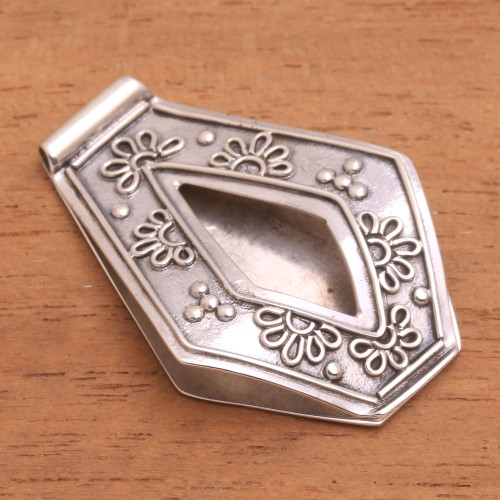 Artisan Crafted Sterling Silver Daisy Floral Money Clip 'Daisy Explosion'