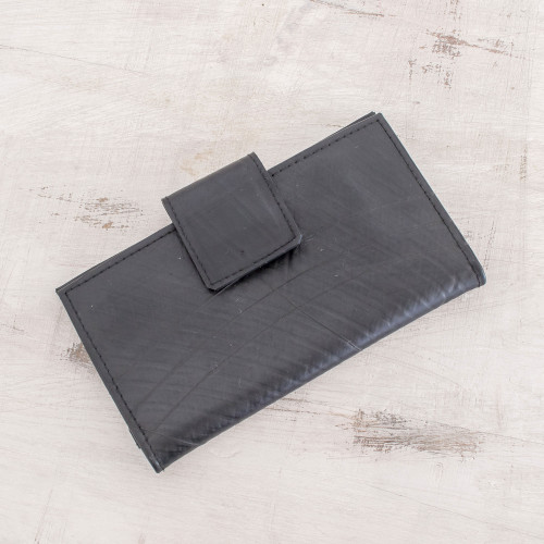 Eco-Friendly Recycled Rubber Wallet from El Salvador 'Eco-Friendly Companion'