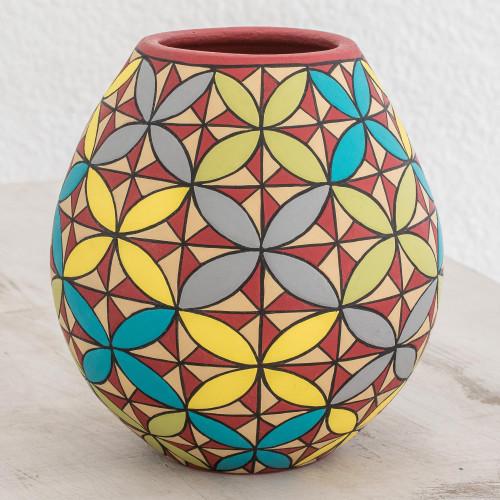 Hand-Painted Colorful Ceramic Decorative Vase 'Beautiful Seeds'