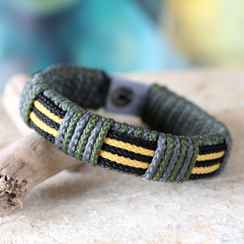 Men's wristband bracelet 'Courage of Africa'